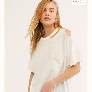 We The Free Free People Lucky Distressed Tee